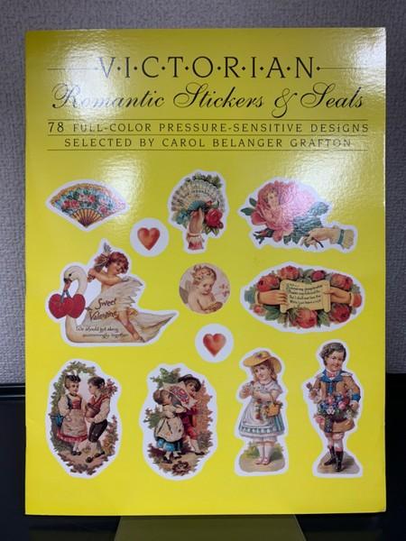 VICTORIAN Romantic Stickers & Seals ヴィクトリア朝風シール帳 洋書