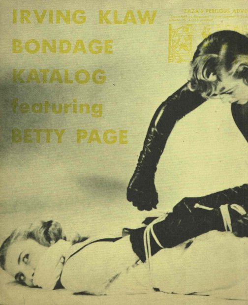Sale 2 第34号増刊 Irving Klaw Bondage Katalog featuring Betty Page 編集:大類信