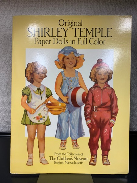 Original SHIRLEY TEMPLE Paper Dolls in Full Color シャーリー・テンプルの着せ替え人形 洋書