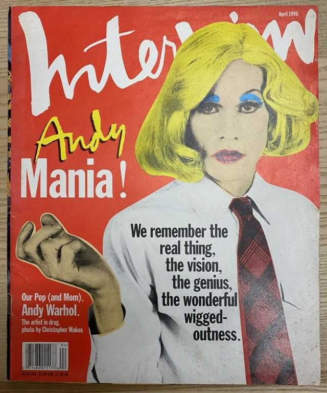 Interview Magazine April 1996 Andy Mania