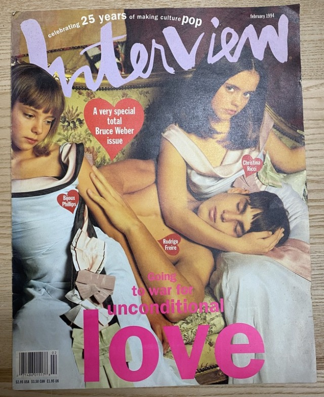 Interview Magazine Feb 1994 A very special total bruce weber issue
