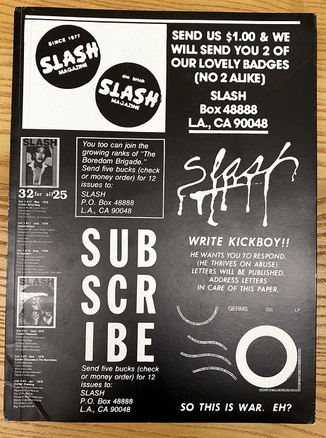 Slash: A Punk Magazine from Los Angeles: 1977-80