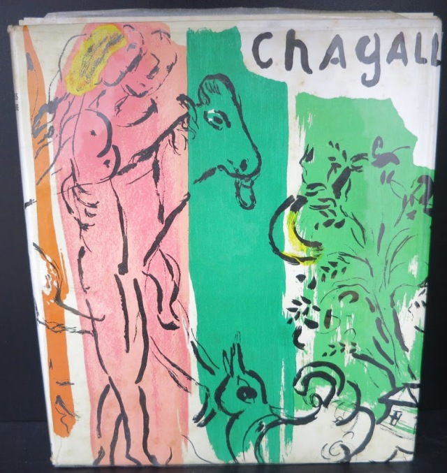 CHAGALL-Marc-Chagall-by-Jacques-Lassaigne-Paris-1957-with-One-Original-Litho