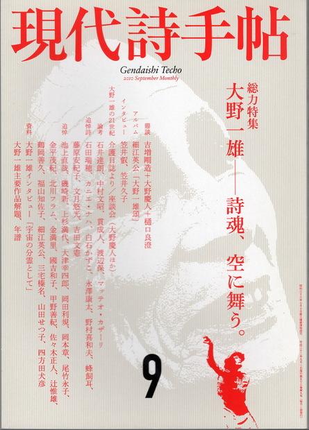 現代詩手帖 2010年9月号 大野一雄