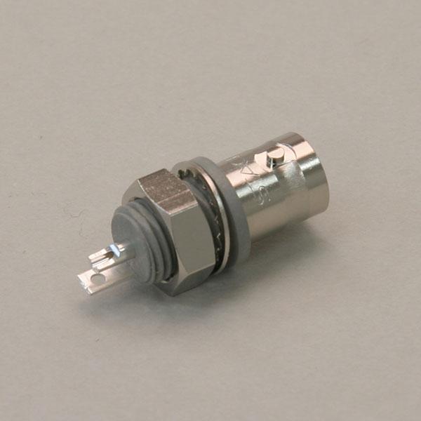 50Ω BNC型フローティングタイプバルクヘッドレセプタクル同軸コネクタ【RoHS】 BNC186
