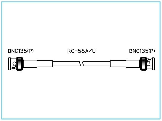 BNC135-***-RG-58A/U(圧着タイプ)