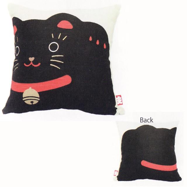クッション 黒猫