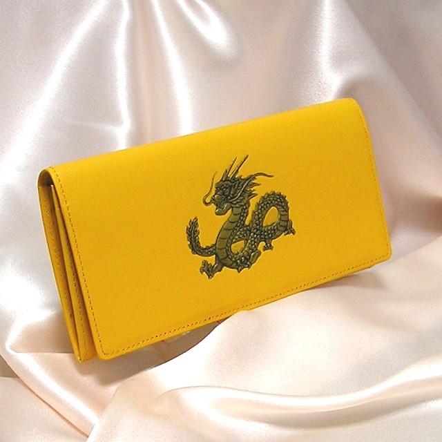 開運福龍財布 黄色長財布