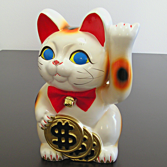 招き猫 ドル猫