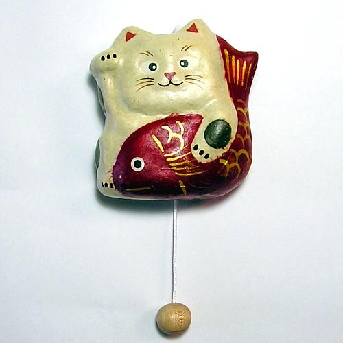 壁掛けオルゴール鯛招き猫