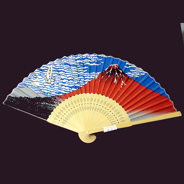 扇子(赤富士)