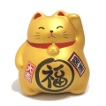 まる福招き猫ゴールド