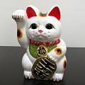 招き猫 白