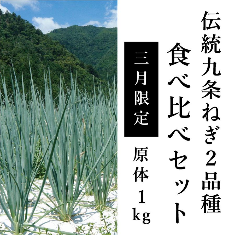 【3月限定】京都府産・伝統九条ねぎ2品種食べ比べセット(1kg)