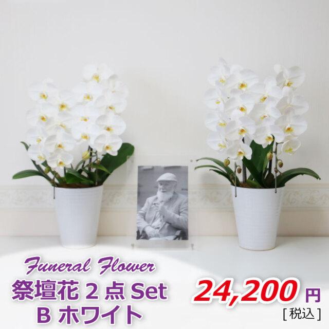 祭壇花2セットBホワイト(税込)