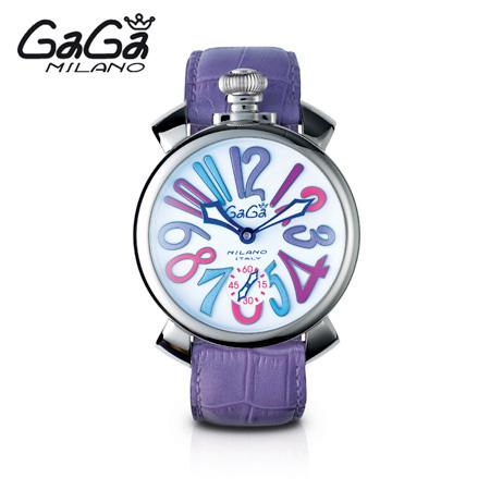 ガガミラノ GaGa MILANO 手巻き腕時計 マヌアーレ MANUALE 48mm ステンレス 5010.9