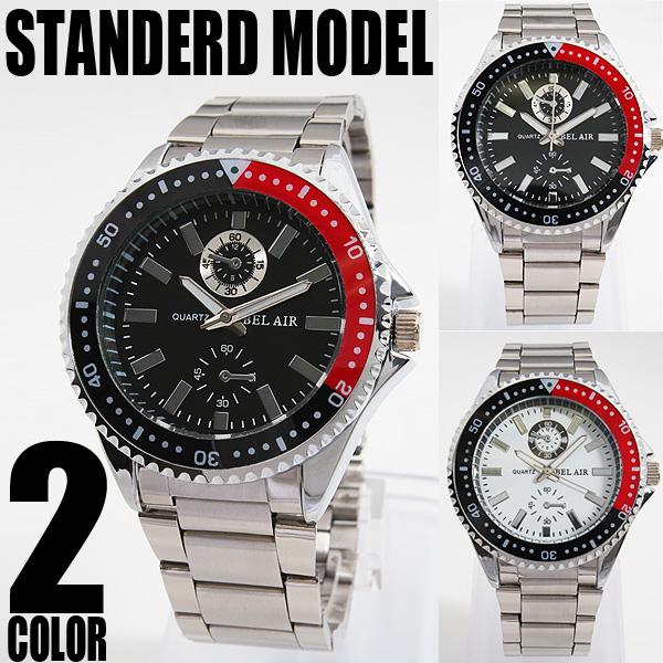 NEWバイカラー仕様フルステンレス腕時計AC-W-INE19