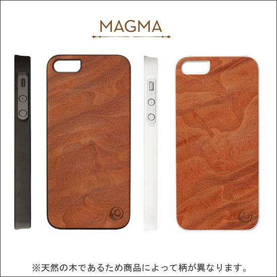iPhone5/5S スマホケース リアルウッドケース ジェニュイン マグマ I1507i5
