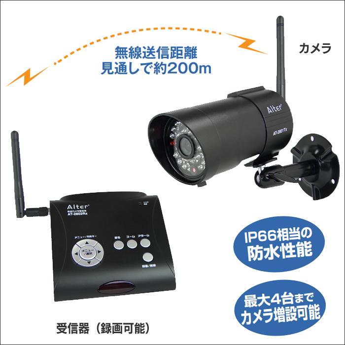 録画一体型 防水・防塵デジタル無線カメラセット