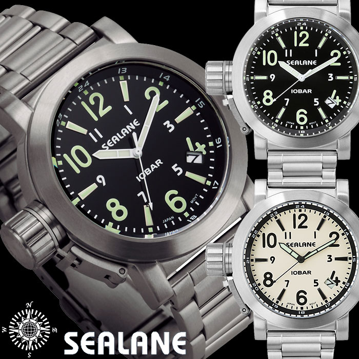 SEALAN シーレーン 10気圧防水ウォッチ メンズ腕時計 アナログ
