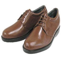 背が高くなる靴 カンガルー革プレーンヒモ(ブラウン)【No975】5cmUP