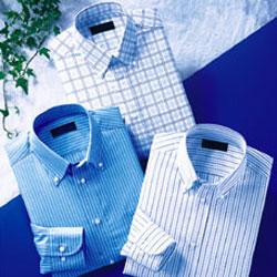 形態安定クールビズワイシャツ3色組 長袖