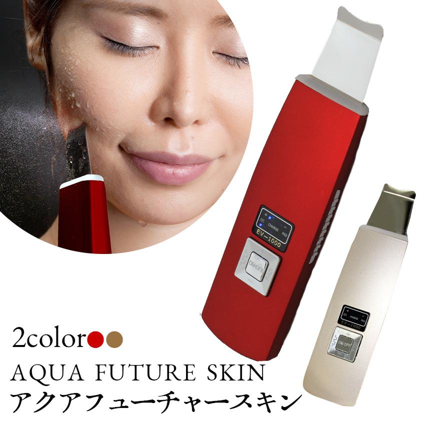 アクアフューチャースキン EV-1000☆水で濡らしてあてるだけの贅沢美顔器
