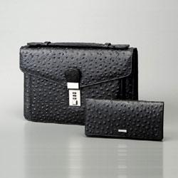 トムモリス メンズ 本革手提げバッグ&財布セット