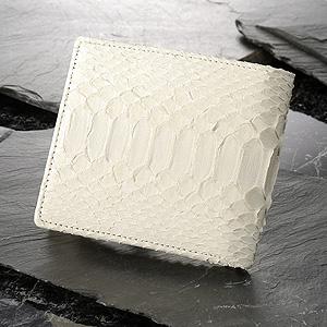 白蛇 二つ折り財布