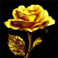 純金箔幸せを呼ぶ黄金のバラ