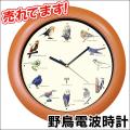 野鳥シンギング電波時計【新聞掲載】壁掛け時計 掛け時計
