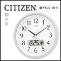 シチズン 電波掛時計 ネムリーナカレンダーM01 シルバーメタリック