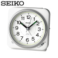 セイコー SEIKO 目覚まし時計 KR326W 置き時計 電波時計 アナログ 白  セイコークロック