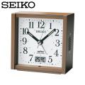 セイコー SEIKO 電波目覚まし時計 KR330B 置き時計 電波時計 アナログ 茶  セイコークロック