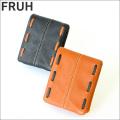 FRUH グローブレザー 袋縫いウォレット GL401 ショートタイプ 二つ折り 牛革財布 フリュー 短財布