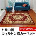 トルコ製 ウィルトン織り カーペット ニューアン 200×250cm【カタログ掲載1403】