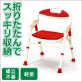 《完売》折りたたみ式シャワーベンチSB-51RE【カタログ掲載1406】【送料無料】