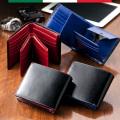 取り外せるカードケース付イタリアンレザー二つ折財布【送料無料】用途に合わせて使いやすい!☆有料名入れ対応可能商品