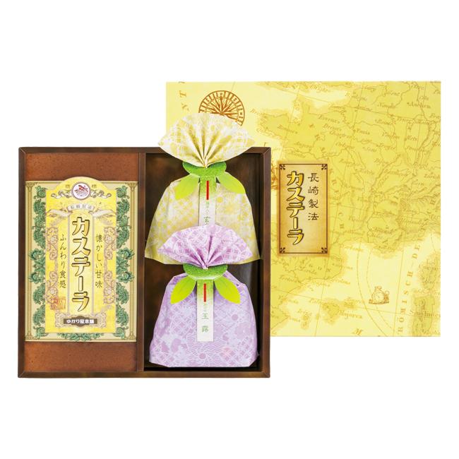 長崎製法カステーラ・緑茶詰合せ No.15