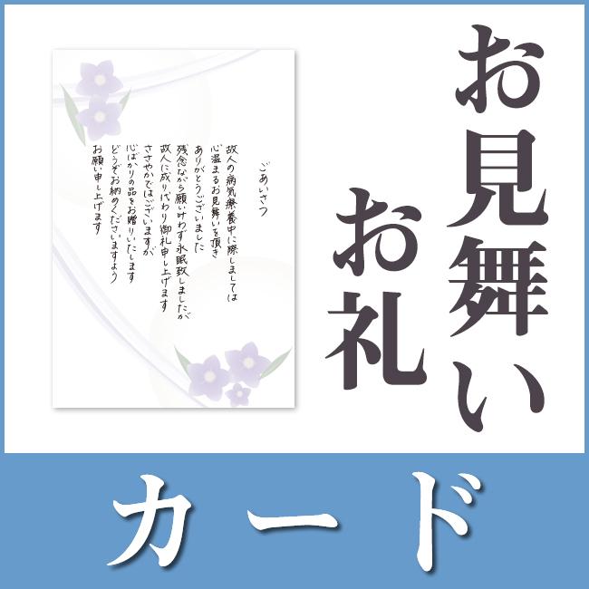 お見舞いお礼用挨拶状(カードタイプ)