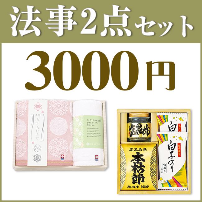 法事3点セット B-2 (海幸彩&今治白なみタオルNo.15)