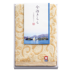 今治きらら ハンドタオル No.5 (ベージュ)