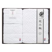 花小紋 今治ホワイトタオルセット No.50