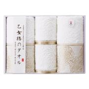 乙女椿のタオル フェイス・ウォッシュタオルセット No.30