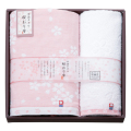 桜おり布 タオルセット No.30 (ピンク)
