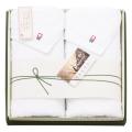 矢野紋織謹製白たおる フェイスタオル2枚セット No.30
