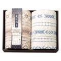 極選 魔法の糸 三重織ガーゼ毛布2枚セット No.160