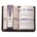 極選魔法の糸×オーガニック プレミアム三重織ガーゼ毛布2P No.160