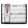 極選魔法の糸×オーガニック プレミアム三重織ガーゼ毛布 No.80 (ブルー)