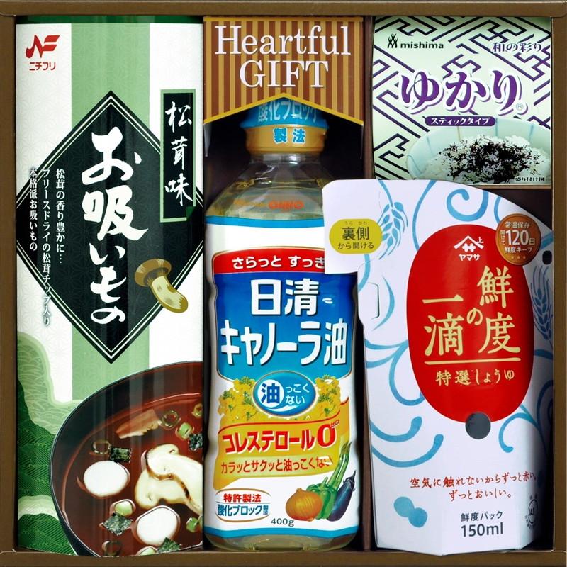 【一括お届け】日清キャノーラ油&鮮度の一滴しょうゆ詰合せ L5103-514